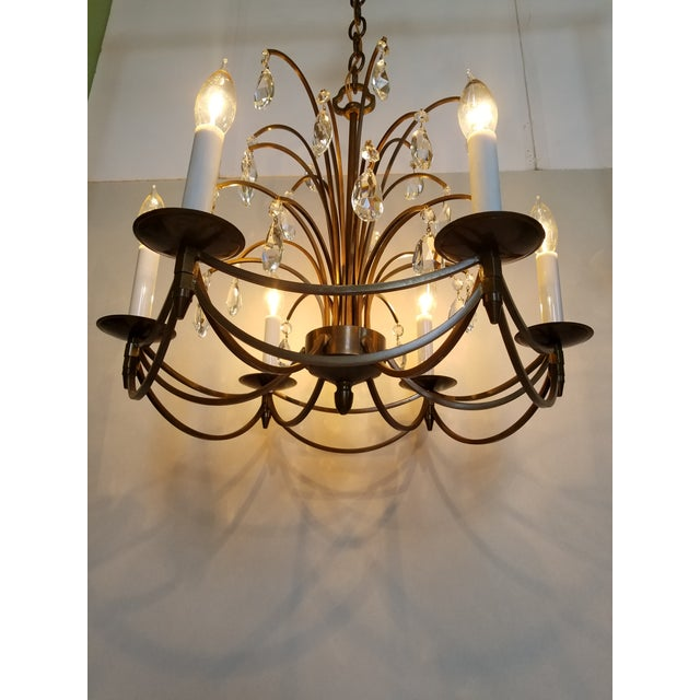 Mid-Century Modern Crystal Swedish Chandelier For Sale - Image 12 of 13