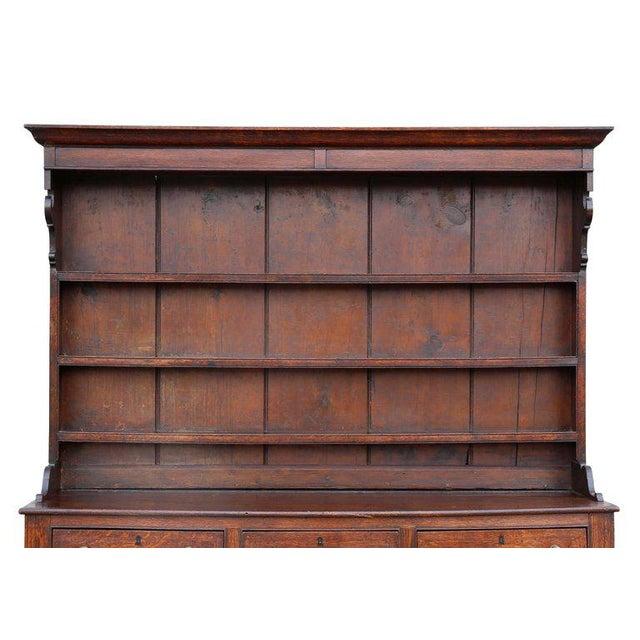 Traditional George III Oak Welsh Dresser For Sale - Image 3 of 11