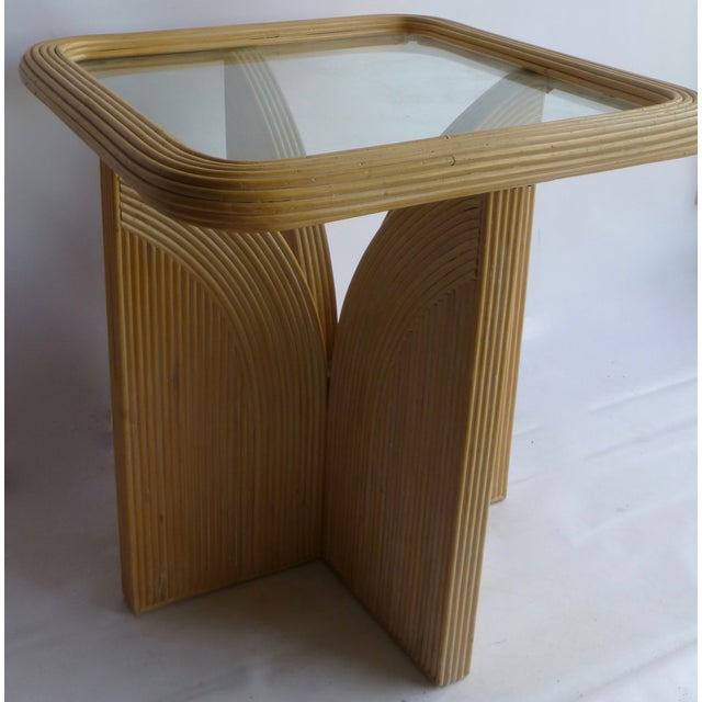 Mid-Century Modern Split Reed Table - Image 5 of 9
