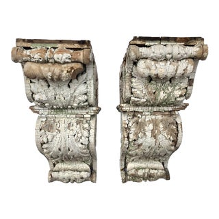 Late 19th Century Vintage Corbels- a Pair For Sale