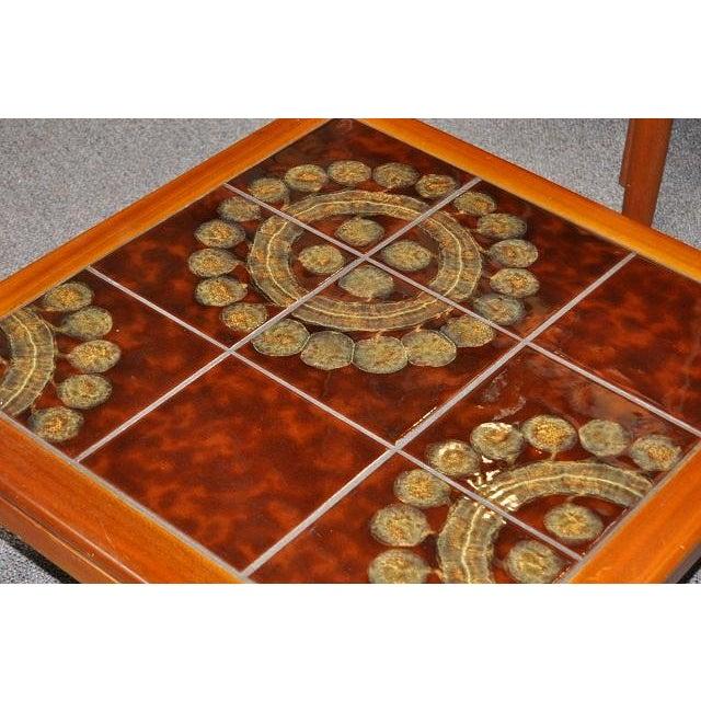 Teak & Tile Coffee Table C.1970 - Image 8 of 8
