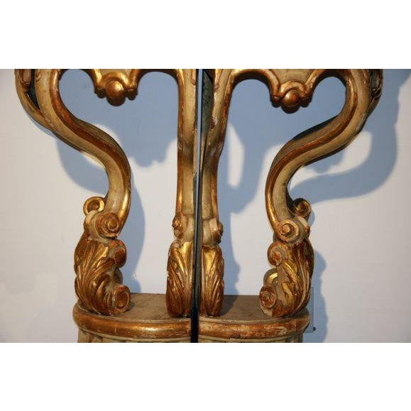 19th Century Italian Corner Consoles For Sale - Image 10 of 11
