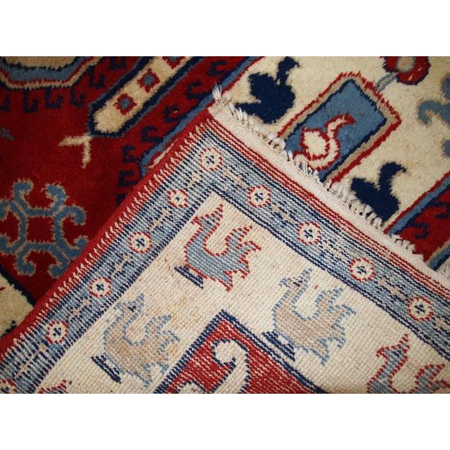 1970s Vintage Caucasian Kazak Rug - 4′ × 6′ - Image 9 of 10