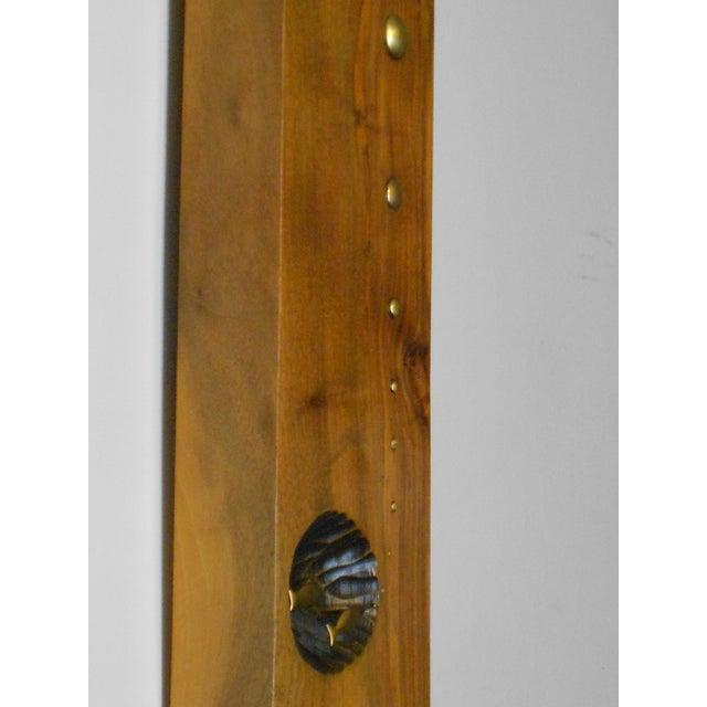 Mid-Century Modern Wood & Brass Wall Art - Image 4 of 6