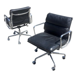 Eames Soft Pad Management Chairs for Herman Miller- A Pair For Sale