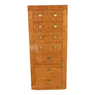Lane Contemporary Campaign Style 7 Drawer Lingerie Chest For Sale