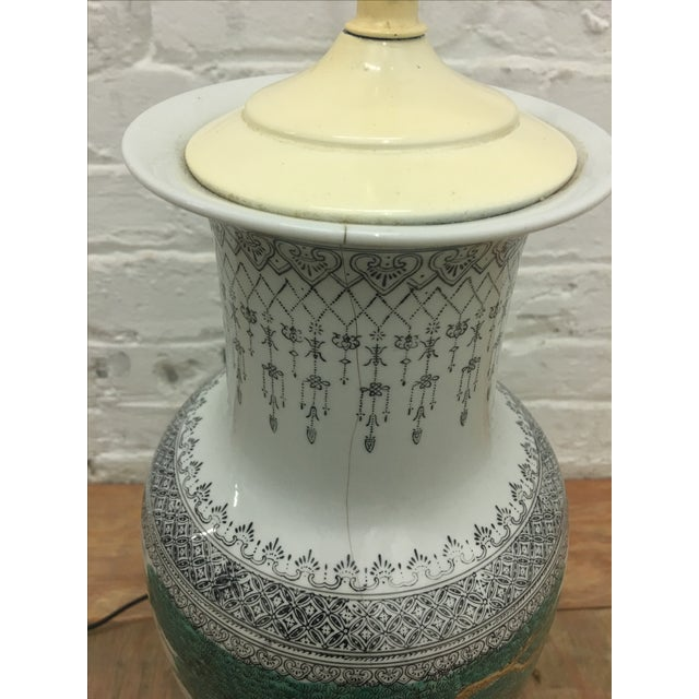 White Ornate Asian Motif Accent Lamp - Image 8 of 8