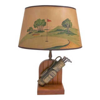 1948 Golf Trophy Lamp For Sale