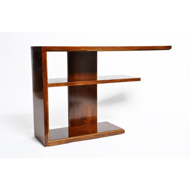 1940s Hungarian Art Deco Console With Shelves For Sale - Image 5 of 13