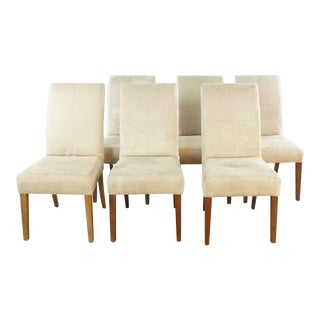 Pottery Barn Upholstered Dining Chairs- Set of 6 For Sale