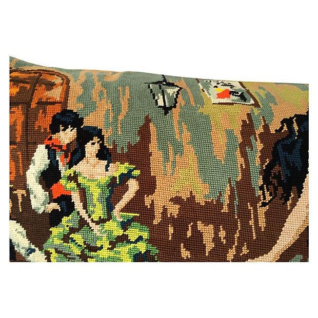 Flamenco Dancers Needlepoint Body Pillow For Sale - Image 4 of 6