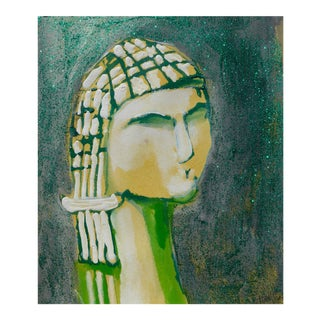 Contemporary Drawing, Venus in Green For Sale