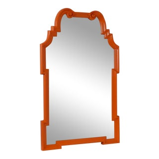 Mid-Century Modern Orange Wall Mirror