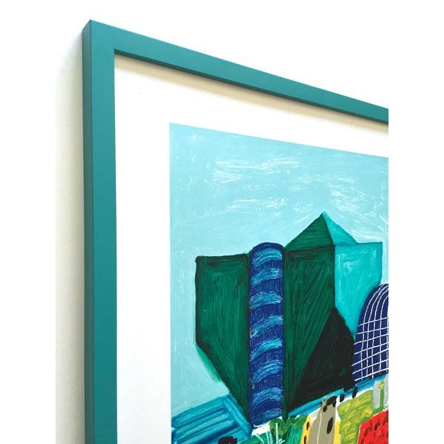 """David Hockney David Hockney Rare Vintage 1989 Lithograph Print Framed Collector's Pop Art Poster """" Hancock St. West Hollywood 1 """" For Sale - Image 4 of 13"""