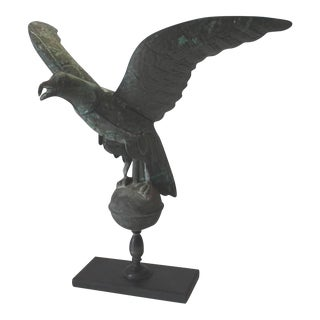 Fantastic Mounted 19th Century Full Body Eagle Weather Vane For Sale