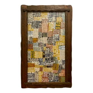 Contemporary Abstract Patchwork-Style Framed Painting For Sale