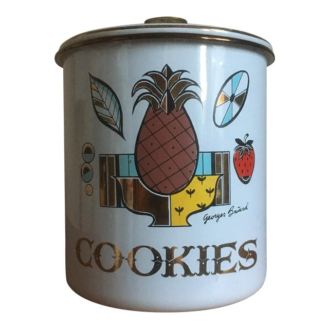 Vintage Georges Briard Mid-Century Cookie Canister - Image 1 of 7