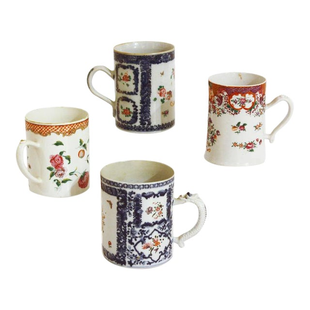 Late 18th Early 19th Century Chinese Export Mugs / Tankards For Sale