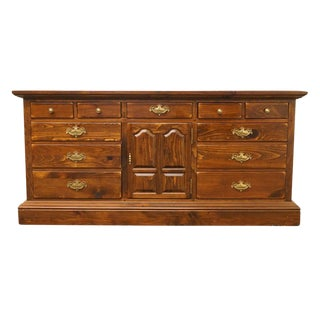 Late 20th Century Vintage Ethan Allen Triple Door Commode For Sale