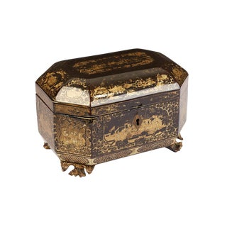 Chinese Export Tea Caddy For Sale
