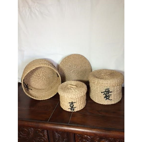 Asian Stacking Baskets - Set of 3 - Image 3 of 3