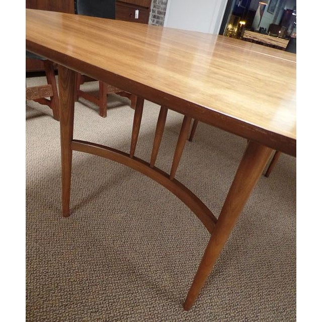 Mid-Century Modern Bowed Table - Image 3 of 3