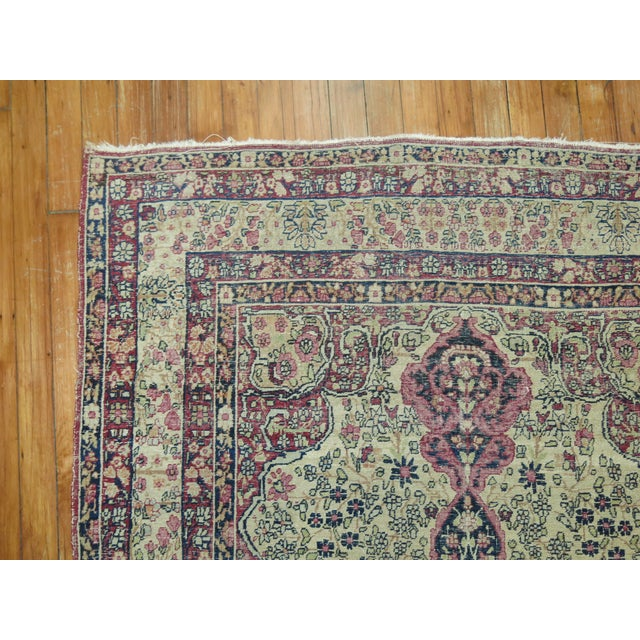Shabby Chic 19th Century Lavar Kerman Rug, 4' x 6'4'' For Sale - Image 3 of 11