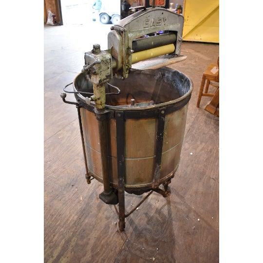 Antique Easy Primitive Copper Wash Tub Wringer Washing Machine For Sale - Image 4 of 7