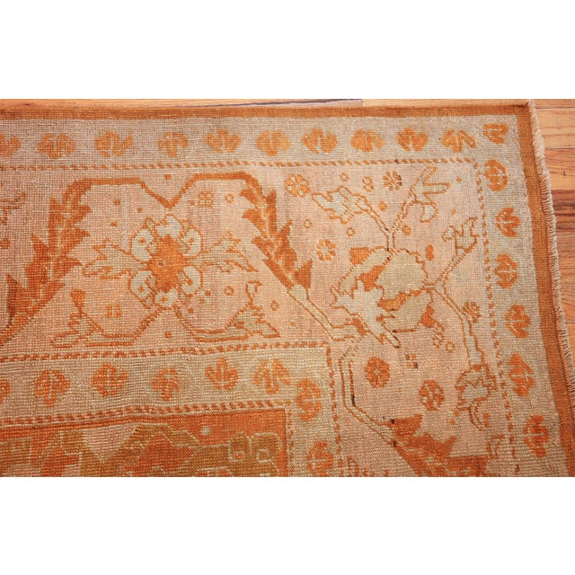 Antique Turkish Oushak Rug - 9′ × 12′ For Sale In New York - Image 6 of 12