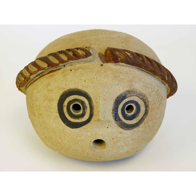 Abstract Mid-Century Ceramic Head Sculpture - Image 3 of 9