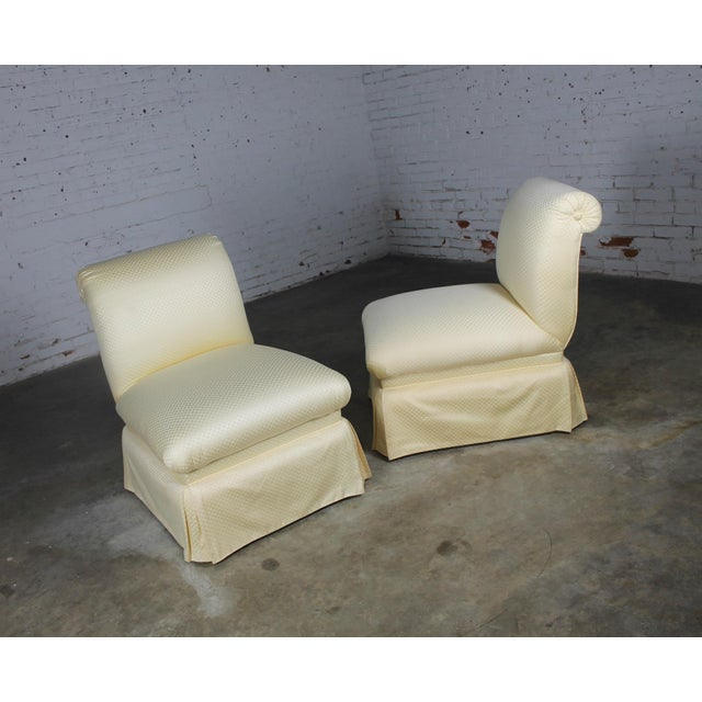 Donghia White Slipper Chairs - A Pair - Image 10 of 10