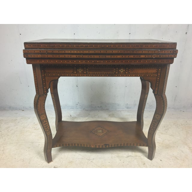 Boho Chic 1930's Moroccan Game Table For Sale - Image 3 of 6
