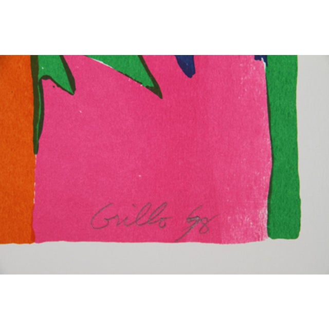 Abstract John Grillo - Kaleidoscope I Serigraph For Sale - Image 3 of 4