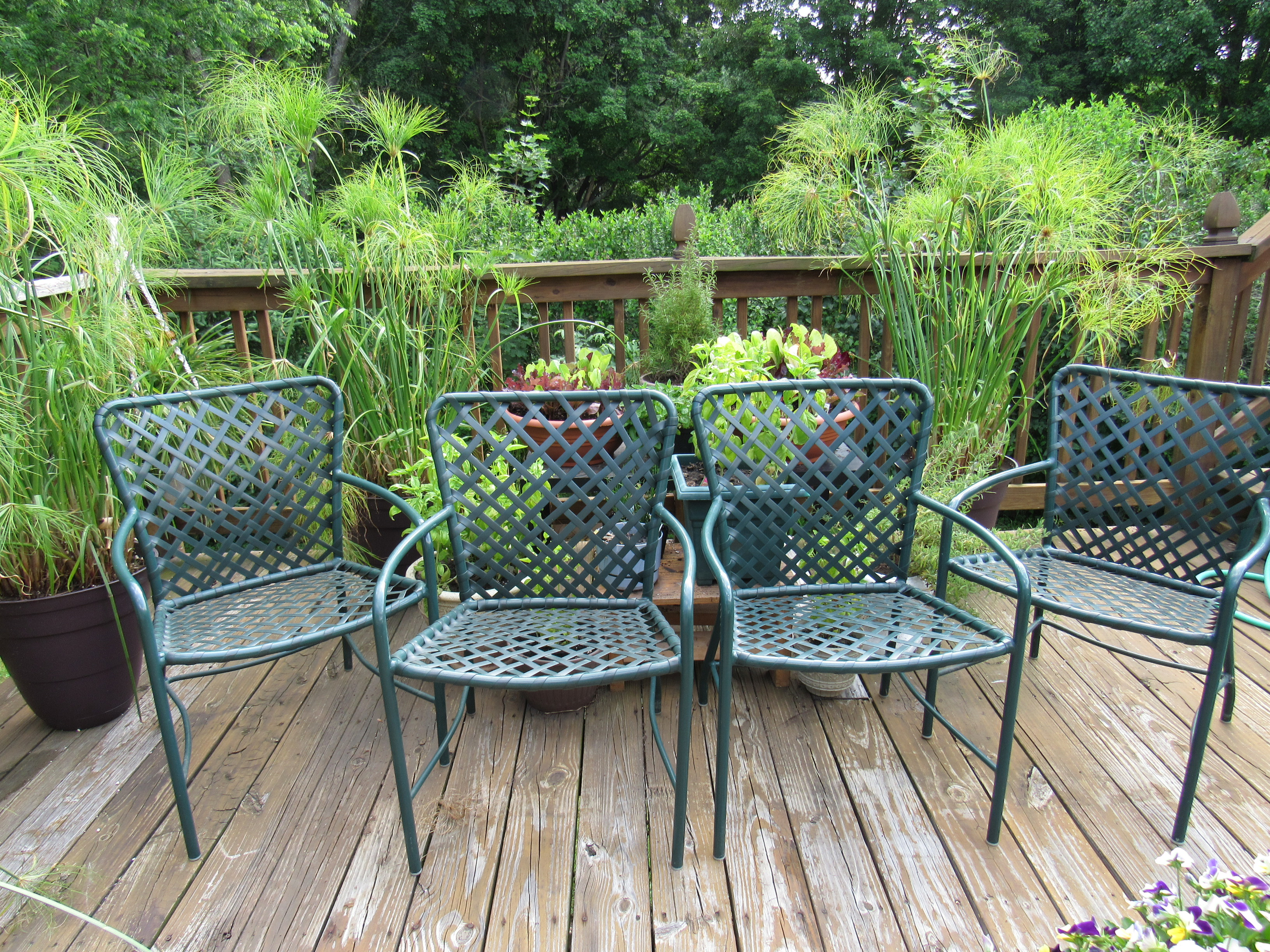 Charmant Vintage Brown Jordan Mid Century Green Tamiami Outdoor Chairs   Set Of 4    Image