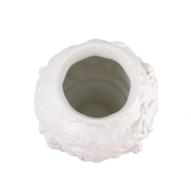 Ceramic White Capodimonte Italian Porcelain Urn For Sale - Image 7 of 10