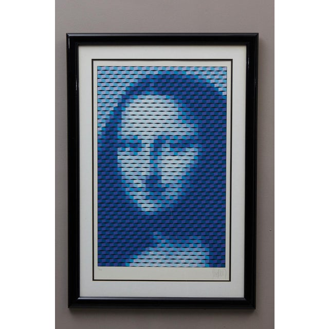 Mona Lisa, Serigraph, 1987, # 7 of 100, pencil signed and numbered. Measurements: Frame H 43.25 x W 30 x D 1 - Sight H...