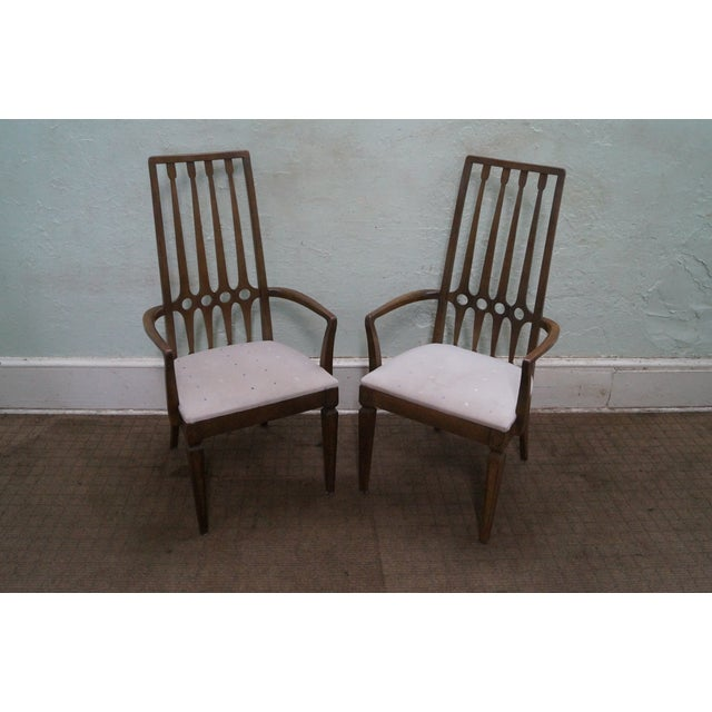 Thomasville Mid Century Hollywood Regency Chairs For Sale In Philadelphia - Image 6 of 10