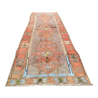 Oversized Vintage Turkish Kilim Runner 5' X 16' For Sale