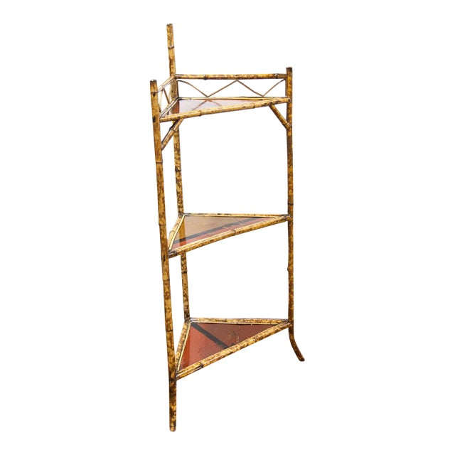 Late 19th Century Bamboo & Lacquer Corner Stand For Sale