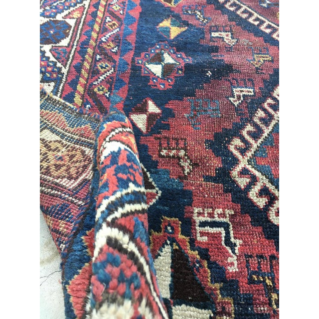 """19th Century Antique Afshar Runner - 9'4"""" x 4' For Sale - Image 4 of 6"""