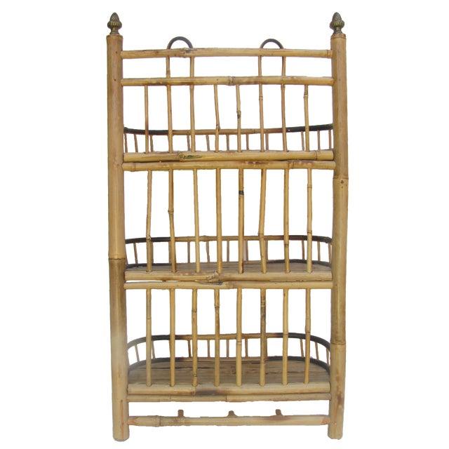 Mid-Century Modern Boho Chic Bamboo / Rattan Wall Shelf For Sale - Image 3 of 4