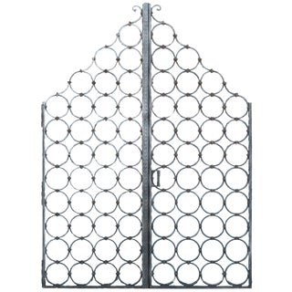 Heavy Cast Iron Gates - a Pair For Sale