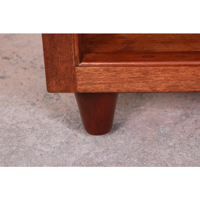 Brown Edward Wormley for Dunbar Mahogany Double Bookcase For Sale - Image 8 of 11
