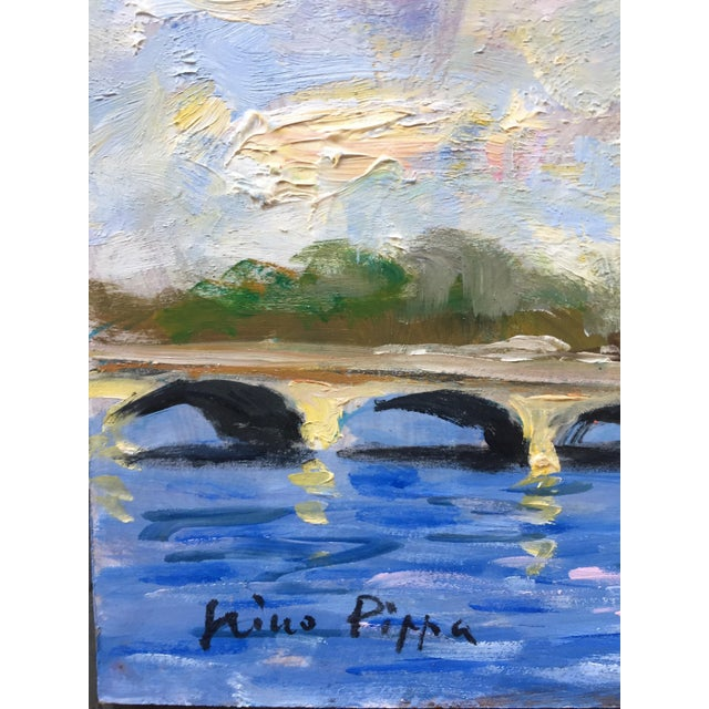 French Original Eiffel Tower Paris Painting by Nino Pippa For Sale - Image 3 of 5