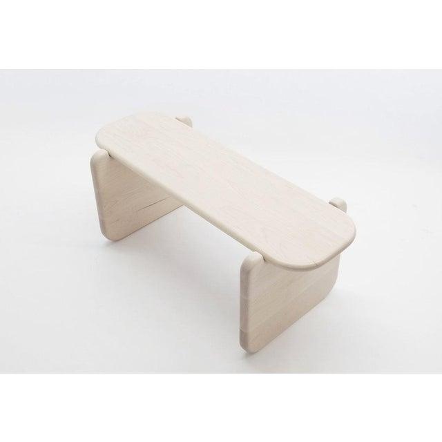 White Loïc Bard Bone Bench For Sale - Image 8 of 8
