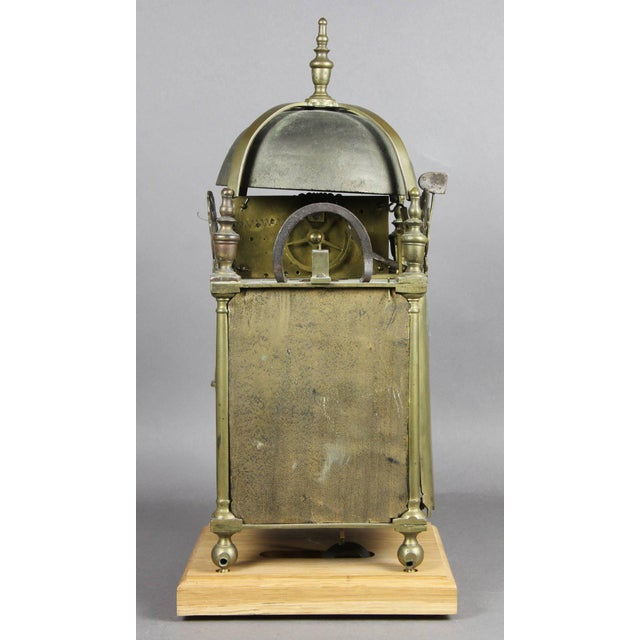 William and Mary Brass Lantern Clock by John Drew, London For Sale - Image 9 of 10