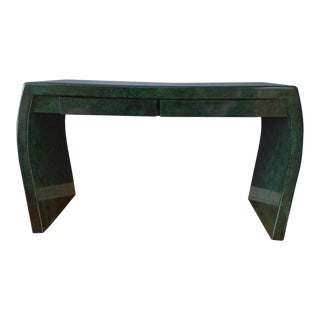Vintage Lacquered Green Desk or Console