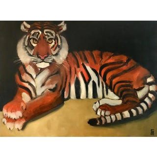 Modern Original Tiger Oil Painting - Stephen McDonough For Sale