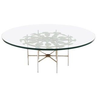 Donald Drumm Cast Aluminum Cocktail Table For Sale