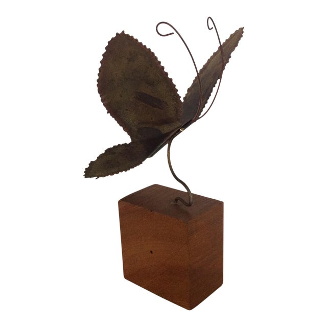 Brass Brutalist Butterfly Sculpture - Image 1 of 6